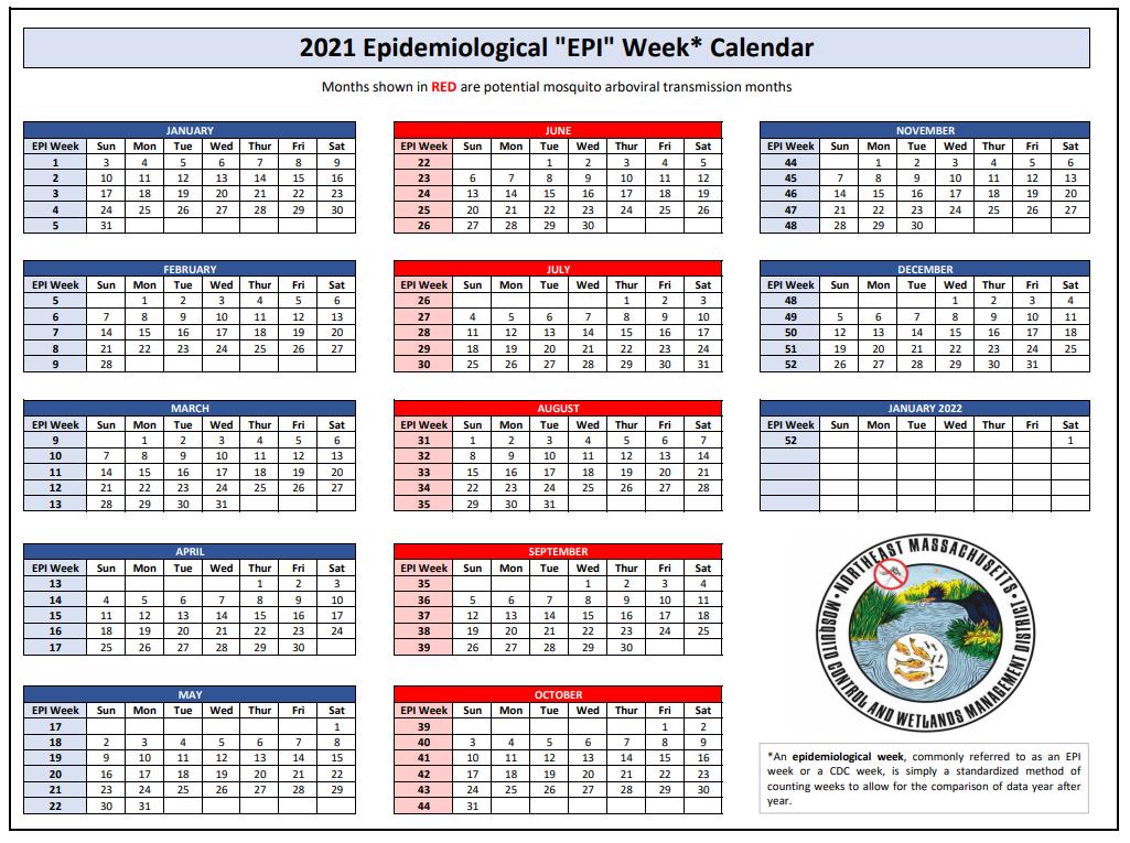 2021 epi calendar